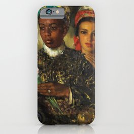 "African American Masterpiece ""Women Arranging a Bouquet of Flowers' by Jose Cruz Herrera iPhone Case"