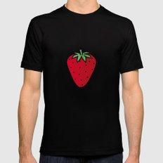 Strawberries II Mens Fitted Tee Black MEDIUM