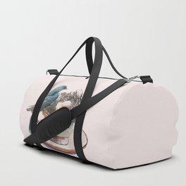 Bird nest in a teacup Duffle Bag