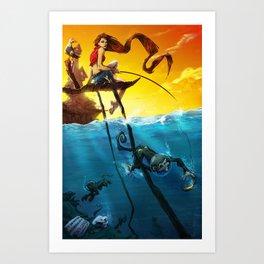 Sea Monkeys Art Print
