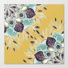 Pretty yellow wildflowers Canvas Print