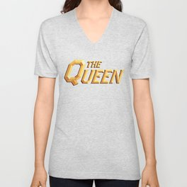 The Queen Full Logo Unisex V-Neck