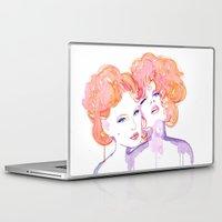 klimt Laptop & iPad Skins featuring Klimt Mistresses by Nicola MacNeil