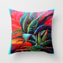 WESTERN DESERT BLUE AGAVE Throw Pillow