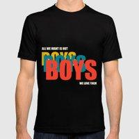 Boys Boys Boys Mens Fitted Tee MEDIUM Black