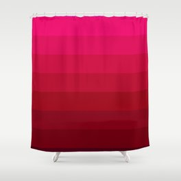 Pink and Red Stripes Shower Curtain