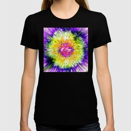 Textured Retro Tie Dye T-shirt
