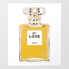 Fashion Perfume Bottle Art Print