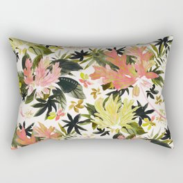 WILD RETREAT Tropical Hibiscus Rectangular Pillow