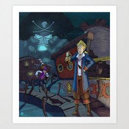 Monkey Island - THINK Art Print