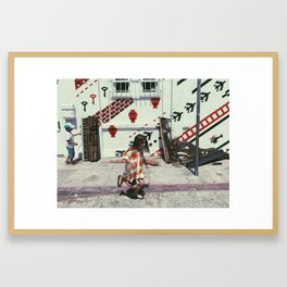 Baby Kids with Baby Grand Framed Art Print