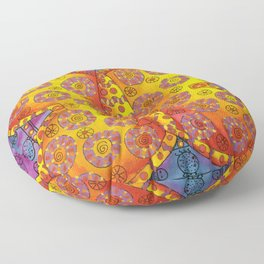 Patterned Butterfly Floor Pillow