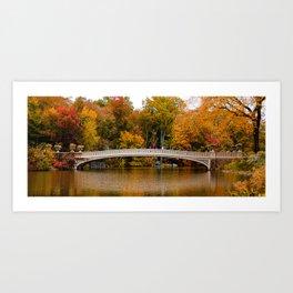 Bow into Fall (Panorama) Art Print