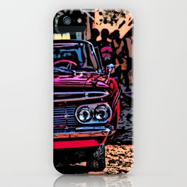 Old american car in Trinidad, Kuba iPhone Case