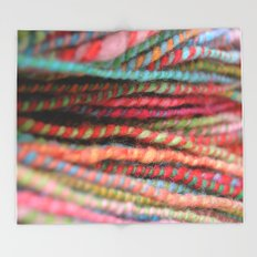 Handspun Yarn Color Pattern by robayre Throw Blanket