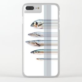Minimal Food Mix Clear iPhone Case