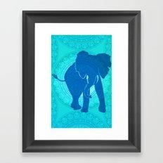 Turquoise Elephant  Framed Art Print