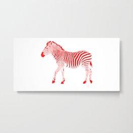 Zebra 11B Metal Print