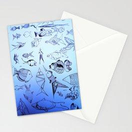 deep sea Stationery Cards