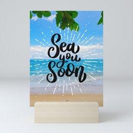 Sea you soon [Santorini, Greece] #7 Mini Art Print