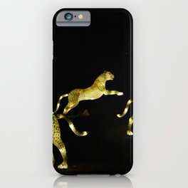 Christmas At The Living Desert Zoo - Cheetah Family iPhone Case