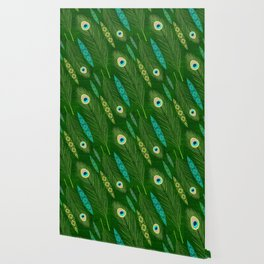 Peacock Feathers Wallpaper