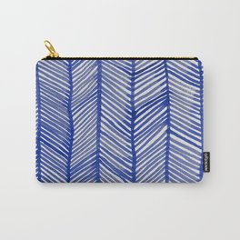 Abstract Leaf Blue Pattern Carry-All Pouch