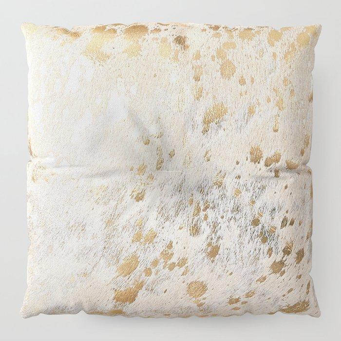 Gold Hide Print Metallic Floor Pillow
