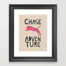 Chase Adventure, nursery art, children's art Framed Art Print