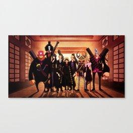 One Piece Full team Monkey D. Luffy Franky Nami Nico Robin Sanji Tony Tony Chopper Zoro Roronoa Canvas Print