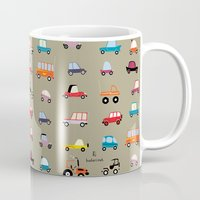 cars Mugs featuring Cars by Marcelo Badari