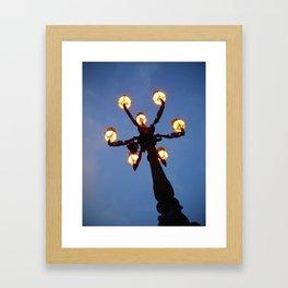 Vatican Lampost Framed Art Print