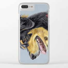 Dog Portrait 01 Clear iPhone Case