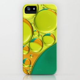 Bubble Abstract with a Twist of Lime iPhone Case