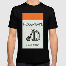 Hogsmeade Monopoly Location Black Mens Fitted Tee MEDIUM