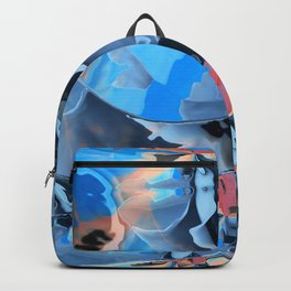 The edge of blue mystery Backpack