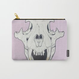 Tiger Skull w/ gold Carry-All Pouch