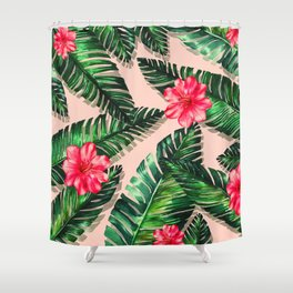 Aroma Hibiscus of Greek islands Shower Curtain