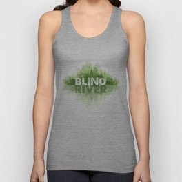 Blind River Trees (green) Unisex Tank Top