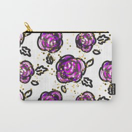 Hand drawn purple roses Carry-All Pouch