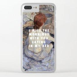 Henri de Toulouse-Lautrec, Die Toilette (1889) / Halsey, Strangers ft. Lauren Jauregui (2017) Clear iPhone Case