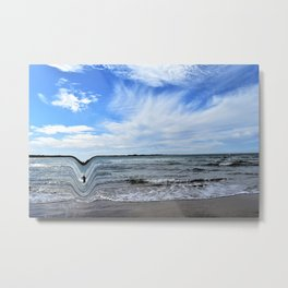 Surfer Parting of the Sea Metal Print