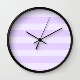Chalky Pale Lilac Pastel Cabana Tent Stripes Wall Clock