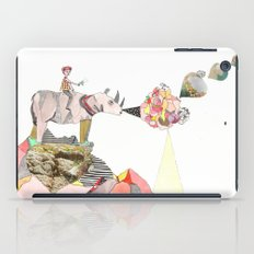 Rhinos Smell Roses Too iPad Case