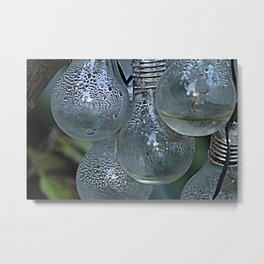 Rain on Light Bulbs Cluster Metal Print