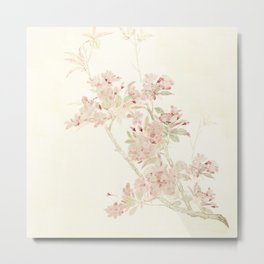 Watercolour of pink blossom Metal Print
