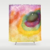 outer space Shower Curtains featuring Outer Space by Alexandre Reis