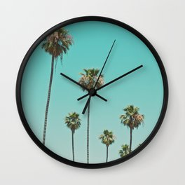 palm trees. las palmeras Wall Clock