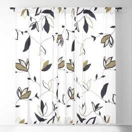 Tree Of Life - Floral & Foliage Pattern #1 #drawing #decor #art #society6 Blackout Curtain
