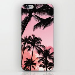 Tropical Trees Silhouette iPhone Skin